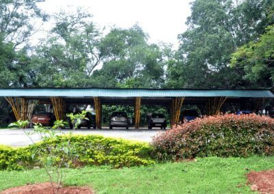 Bamboo made Car Park IIM Bangalore