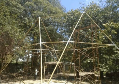 Bamboo structures by Bamboooz