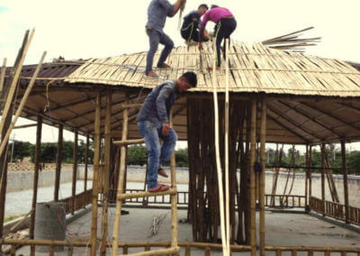 Bamboo Roofing by Bamboooz