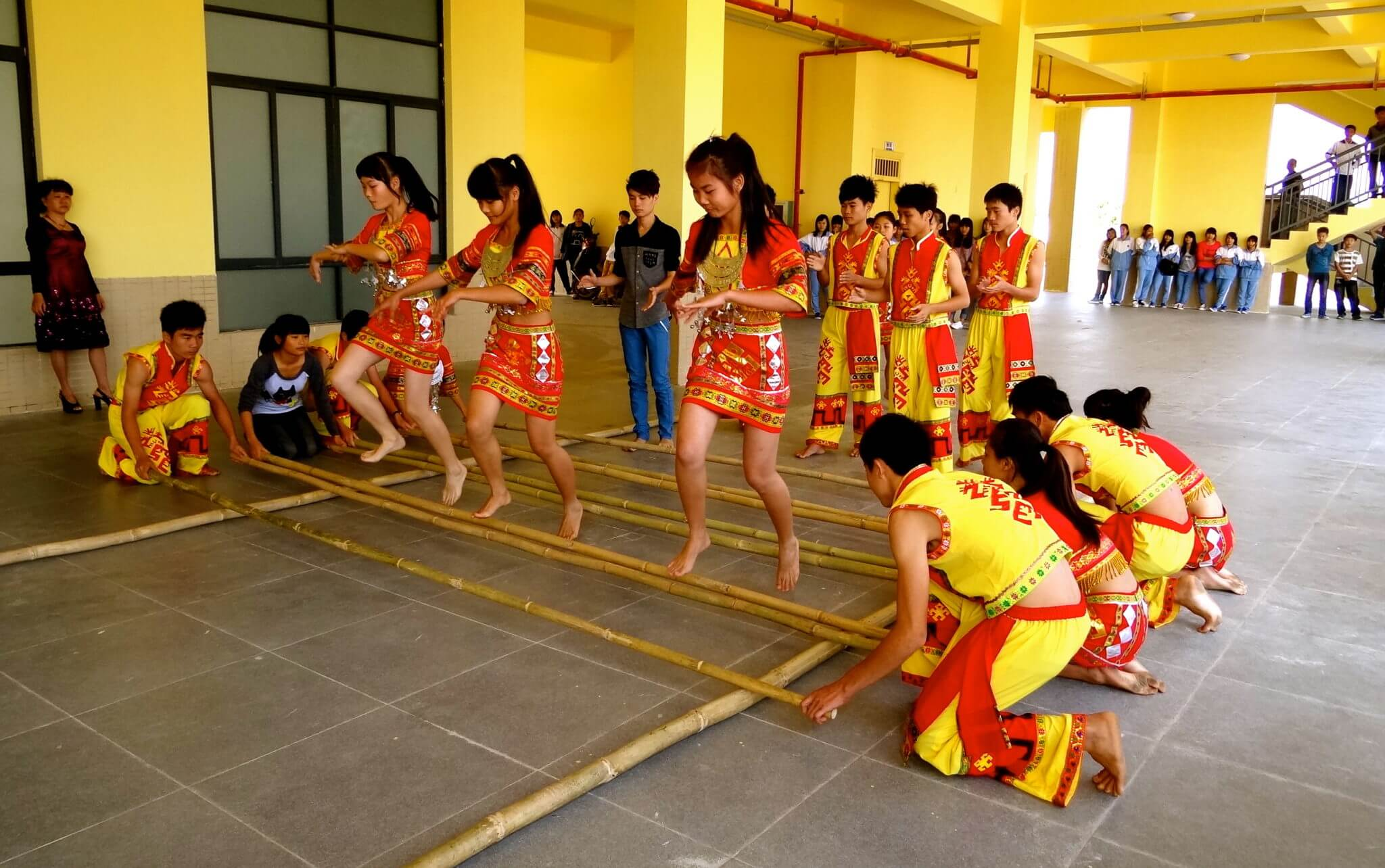 Bamboo Dance being performed - Bamboooz